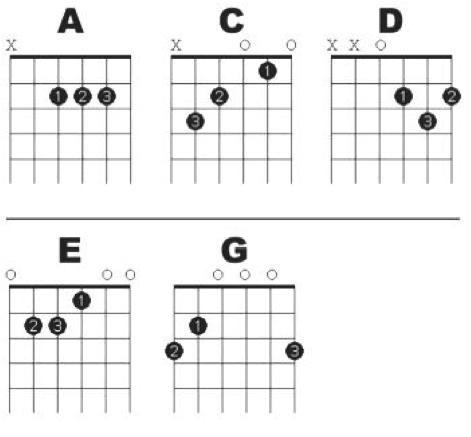 Guitar guitar chords basic : Guitar chords for beginners | DSP Guitar Tuition